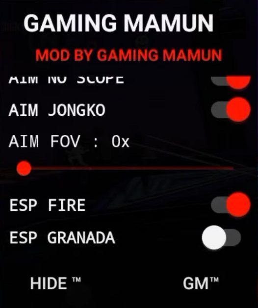 Gaming Mamun Free Fire Mod Menu