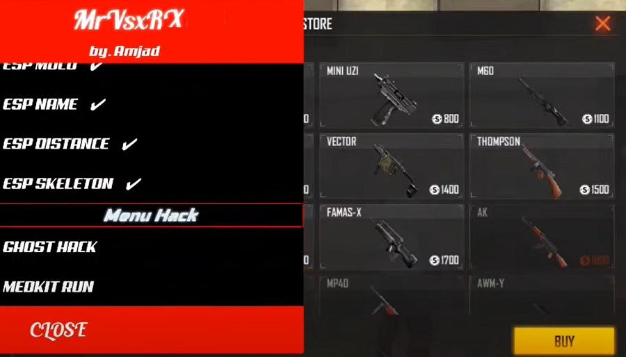 MrVsxRX Mod Menu